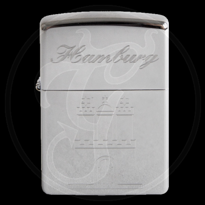 Zippo-Feuerzeug - Hamburg Wappen - Hölle 3 - optional mit individueller Gravur