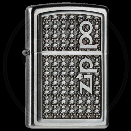 Zippo-Feuerzeug - Skulls mit Logo - optional mit individueller Gravur