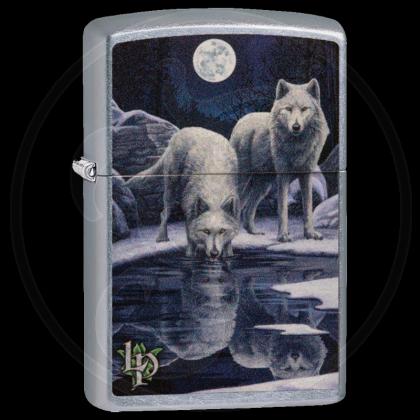 Zippo-Feuerzeug - two Wolves at the Water von Lisa-Parker - optional mit individueller Gravur
