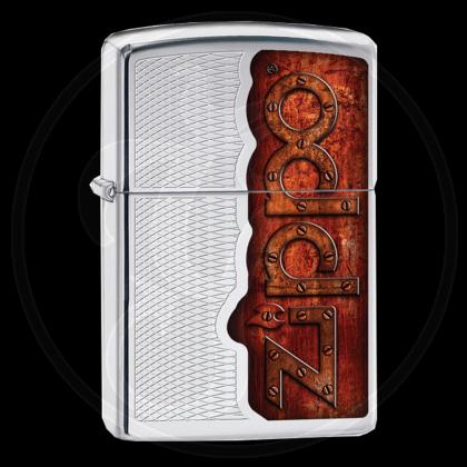 Zippo-Feuerzeug - Zippo-Rost-Design - Optional mit Schachtelgravur