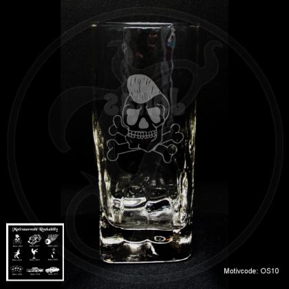 Longdrinkglas Cocktailglas - Rockabilly - mit Motivauswahl und individueller Gravur / Name