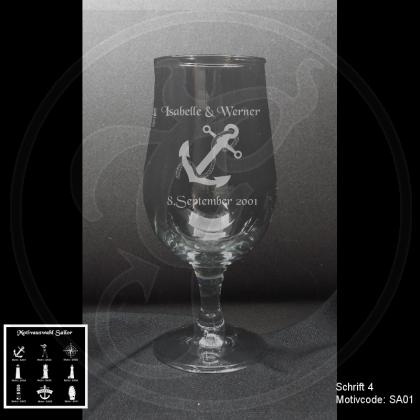 Biertulpe - Sailor - mit Motivauswahl und individueller Gravur / Text