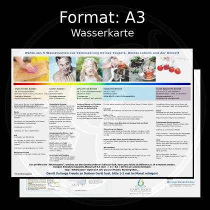 Laminierte Wasserkarte (Format: DIN A3)
