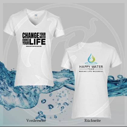 T-Shirt Damen - Premium Cotton® Ladies` V-Neck - Happy Water Team