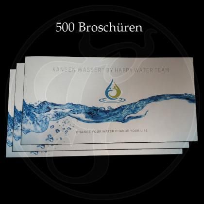Broschüren, DIN A lang, Heftung, 8 seitig, glänzend (500 Stk)