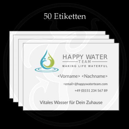 Etiketten, UV-Lack, witterungsbeständig, Happy-Water-Team (50 Stk)