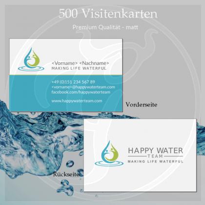 Visitenkarten Happy Water Team Premium matt (500 Stk)