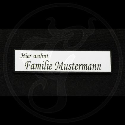 Schild rechteckig mit individueller Gravur / Name