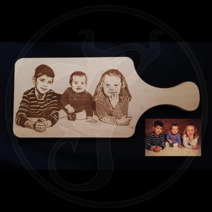 Frühstücksbrettchen Schneidebrett mit Kundenfoto