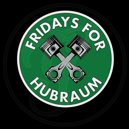 Aufkleber - Fridays for Hubraum im Doppelpack