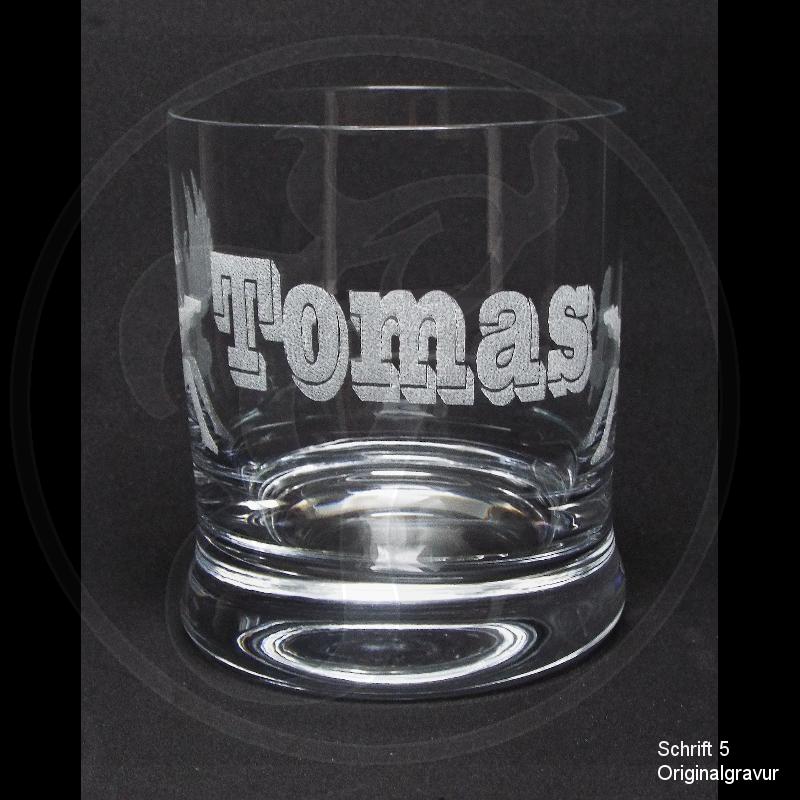 Whiskeyglas - Engel und Teufel - mit individueller Gravur / Wunschtext