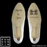 Schuhsohlen-Gravur - Heart - mit Motivauswahl und individueller Gravur