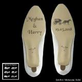 Schuhsohlen-Gravur - Kutsche - mit Motivauswahl und individueller Gravur