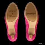 Schuhsohlen-Gravur - Beliebiger Text auf Ihrer Schuhsohle