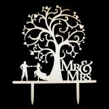 Caketopper - Mr & Mrs - Tanz unter dem Baum - Vintage Stil