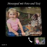 Luxus-Mousepad / Mauspad ECO mit Ihrem Foto und optional mit Wunschtext