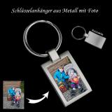 Schlüsselanhänger aus Metall bedruckt mit Ihrem Foto