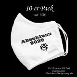 Mund-Nasen-Maske / Sabberschutz für Abschlussklassen / Abi-Jahrgänge (10er Pack)