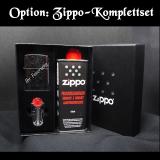 Zippo-Feuerzeug - Pin Up Tattoo Girl - Farbe: Creme - optional mit individueller Gravur