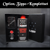 Zippo-Feuerzeug - Ford Mustang Logo - optional mit individueller Gravur