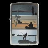 Zippo-Feuerzeug - Fishing - optional mit individueller Zippo-Schachtel-Gravur