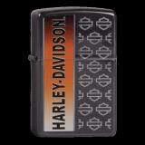 Zippo-Feuerzeug - Harley Davidson - Hölle 1 - Schriftzug vertikal - optional mit individueller Gravur