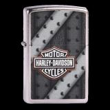 Zippo-Feuerzeug - Harley Davidson - Hölle 3 - Textur grau mit schwarz - optional mit individueller Gravur