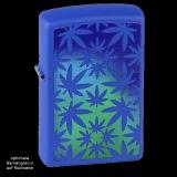 Zippo-Feuerzeug - Blue Cannabis - Optional mit individueller Gravur des Zippos und der Schachtel
