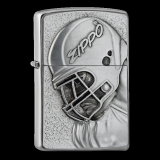 Zippo-Feuerzeug - Emblem Football Player - optional mit individueller Gravur