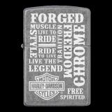 Zippo-Feuerzeug - Harley Davidson Forged - optional mit individueller Gravur
