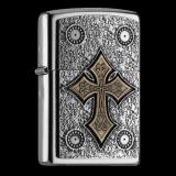 Zippo-Feuerzeug - Emblem Celtic Cross - optional mit individueller Gravur