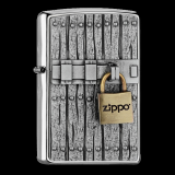 Zippo-Feuerzeug - Emblem Closed Vintage - optional mit individueller Zippo-Schachtel-Gravur