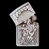 Zippo-Feuerzeug - Emblem Devil - optional mit individueller Gravur