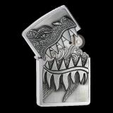 Zippo-Feuerzeug - Firebreathing Dragon - mit Deckel-Trick - optional mit individueller Gravur