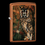 Zippo-Feuerzeug - Owl Roosting - Farbe: messing - optional mit individueller Gravur