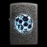 Zippo-Feuerzeug - Grey Dusk with Football - optional mit individueller Gravur