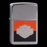 Zippo-Feuerzeug - Harley Davidson - Hölle 5 - chrom-schwarz-orange - optional mit individueller Gravur