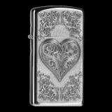 Zippo-Feuerzeug - Heart Ornaments Slim - optional mit individueller Gravur