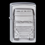 Zippo-Feuerzeug - Emblem King of the Road - Optional mit Schachtelgravur