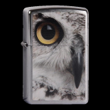Zippo-Feuerzeug - Owl Face - optional mit individueller Gravur