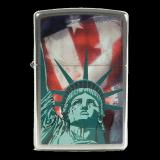 Zippo-Feuerzeug - Statue of Liberty - optional mit individueller Gravur