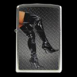 Zippo-Feuerzeug - Legs in Boots - optional mit individueller Gravur