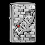 Zippo-Feuerzeug - Emblem Zippo The Wall - Optional mit Schachtelgravur