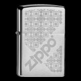 Zippo-Feuerzeug - Logo Pattern - optional mit individueller Gravur