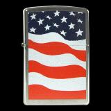 Zippo-Feuerzeug - American Flag - optional mit individueller Gravur