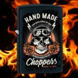 Zippo-Feuerzeug - Biker Skull - optional mit individueller Gravur