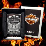 Zippo-Feuerzeug - Emblem Eagle Harley Davidson - Hölle 7 - optional mit individueller Gravur