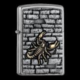 Zippo-Feuerzeug - Emblem Scorpion - optional mit individueller Gravur