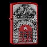 Zippo-Feuerzeug - Emblem Fire House - optional mit individueller Gravur