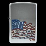 Zippo-Feuerzeug - Harley Davidson Flowing-Flag - Hölle 8 - optional mit individueller Gravur